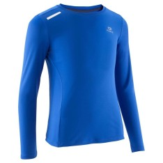 kalenji-run-sun-protect-long-sleeved-t-shirt-blue